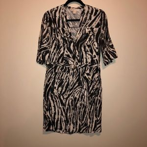 Michael Kors 100% Silk zebra print Dress/tunic